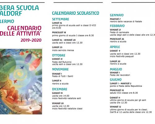Calendario delle attività 2019-2020